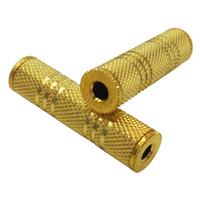 usb weiblicher 3.5mm adapter großhandel-50 Stücke 3,5mm Buchse auf 3,5mm Female F / F Audio Adapter Koppler Metall Vergoldet Stecker