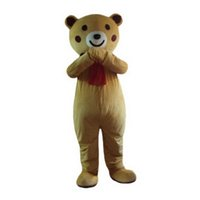 Wholesale Brown Bear Mascot Costumes Cartoon Character Adult Sz Real Picture