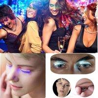 Wholesale Wholesale Glitter Eyelashes - Good F.Lashes Interactive LED Eyelashes Fashion Glowing Eyelashes Waterproof for Dance Concert Christmas Halloween Night club Party