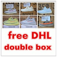 Wholesale Light Up Box - Free DHL double box Season 3 SPLY 350 Boost V2 With Box Best Quality men shoes women running Shoes Sneakers 350 Boost V2 basketball shoes