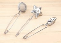 Wholesale Tea Infuser Spoon Wholesale - Star shape Tea Infuser oval-Shaped 304#Stainless Tea strainer Infuser Spoon Filter free shipping