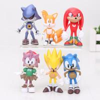 Wholesale sonic movie toys for sale - Group buy 6pcs set cm SEGA sonic the hedgehog Figures toy pvc sonic Characters figure toy
