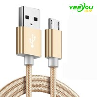 Wholesale Huawei Phone Housing - Metal Housing Braided Micro USB Cable Durable Tinning High Speed Charge Type C Cables 10000+ Bend Lifespan For Android Samsung Phone Huawei