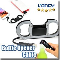 Wholesale Iphone Bottle Openers - Multifunctional Data Sync Cable Bottle Opener Keychain High Speen 2.1A Metal Charging line mobile phone USB cables For Micro V8 Android