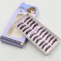 Wholesale V Lashes - New False Eyelashes Handmade Natural Long Curl Thick Winged Eyelash Soft Fake Eye Lash Extensions Flair Black Terrier Full Strip Lashes V-07