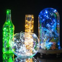 Wholesale Wedding Outdoor Battery Lamp - AA Battery Operated LED Copper Wire Fairy String Lights 2M 3M 4M 5M 50Leds Christmas Home Party Wedding Decoration Lights Seed Lamp Outdoor