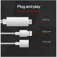 Wholesale Iphone 3in1 Cable - 3in1 HDMI Cable for Iphone 5 5S 6S 6 Plus Android Phone Type C Device to HDMI Cable 1080P For iphone typec Galaxy S8 with retail box