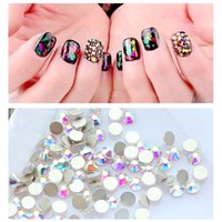 New Nail Art Crystal Rhinestones White Glass Crystal AB SS3-S10 Flatback Strass Diamonds 3D Nails Art Decorações Manicure 2017