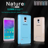 Wholesale nature series - For Samsung Galaxy Note 4 Phone Case Nillkin Nature Series Transparent Clear Soft Silicone TPU Back Cases Covers