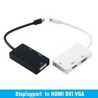Wholesale thunderbolt vga cable - 3 in 1 Thunderbolt Port Mini Displayport to HDMI DVI VGA Display Port Adapter Cable for Mac Macbook Air iMac Microsoft Surface Pro