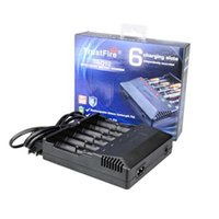 Wholesale Wholesale Trustfire Batteries - Original Trust fire TR-012 Digital charger trustfire Intelligent Multifunctional charge with 6 Slots for 18650 18350 Battery 100% Genuine