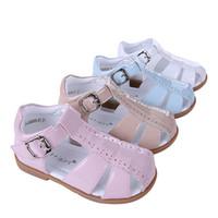 recortes de sapatos venda por atacado-Sapatos estilo Pettigirl Casual Meninas Sandal bebê Crianças recorte respirável Flats sandálias romanas 0-6Y crianças Verão A-KSB005-01 Sem Shoe Box