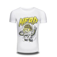 Wholesale Hipster Nerd - 2017 men's Clothing 3D T Shirt Men fashion short sleeve Nerd printed t-shirt funny tee shirts Hipster O-neck cool tops free shipping