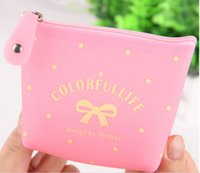 Hot New Woman Fashion Designer cremallera carteras Jelly Money Clips Bolsas de almacenamiento al por mayor Caso clave WA044