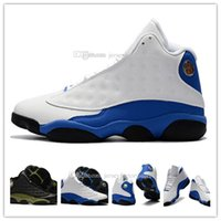 Atacado Famosos Instrutores Cheap New Retro 13 XIII Holograma Verde Azul Preto Branco Masculino Womens Sports Basketball Shoes sneakers US 8-13
