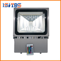 Wholesale 100W RGB Led Floodlights Colors Change Outdoor Led Flood Lights Wall Lamp Waterproof keys IR Remote Control
