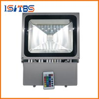 Wholesale Ir Floodlight Outdoor - 100W RGB Led Floodlights Colors Change Outdoor Led Flood Lights Wall Lamp Waterproof + 24keys IR Remote Control