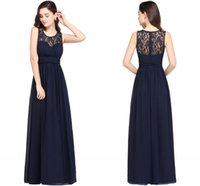 Wholesale Garden Wedding Dresses For Bridesmaid - 2018 Country Cheap Bridesmaid Dresses for Wedding Long Chiffon A-Line Formal Dresses Modest Maid Of Honor Wedding Guest Party Gowns CPS614