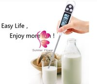 Wholesale multi thermometer food resale online - KT Multi Function Digital Cooking Food BBQ Thermometer Probe Pen Type LCD ãC to ãC LLFA