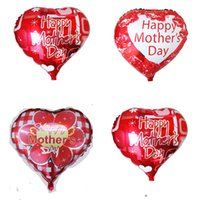 Wholesale White Aluminum Foil - mother and father Love heart shape Mama balloons happy mother's day Aluminum Foil balloon mother festival globos balloons