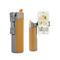 Wholesale Speakers Sticker - Portable Bluetooth Wireless Selfie Timer Speaker Outdoor Speaker with Power Bank TF Card Selfie Sticker and Mini Speaker 2 in 1