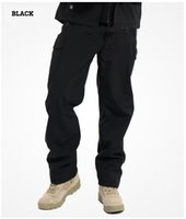Wholesale Winter Army Pants - Shark Skin Softshell Outdoors Tactical Military Camouflage Pants Men Winter Army Waterproof Thermal Camo Hunt Hike Fleece Pants