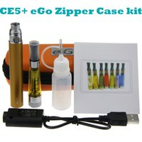eGo CE5 + Starter kit simple eGo Zipper étui kit cigarette électronique CE5 plus atomiseur wickless clearomizer eGo-T batterie