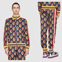 Wholesale High Waist Long Sleeve Cardigan - Winter Europe Italy 3D Cube print Fashion Men Luxury Sport Casual Women Zipper Jacket band jersey Pants tracksuit