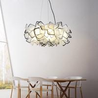 Wholesale Droplight Lamp Holder - Nordic creative Pendant Lights contracted lamps modern romantic art restaurant droplight E27 lamp holder or three color adjustable