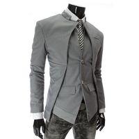 Wholesale mens designer tuxedos - Wholesale- 2016 Brand Designer Fashion Mens Suit Jacket England Style Slim Fit Blazer Coats Tuxedo Business Men Suits Drop Shipping