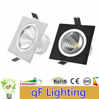 Square 6W 9W 12W Atenuación LED COB Downlights Negro / Plateado Dimensible Luminaria Empotrable Techo Down Spot Lámparas CSA SAA UL