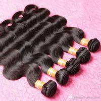 Wholesale Natural Wave 5pcs - Human Hair human Extensions 5 Bundles Brazillian Body Wave Virgin 7A Brazilian Remy 100% Cheap Brazilian 3,,5pcs lot