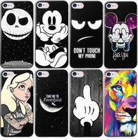 Wholesale Cartoon Hard Plastic Back Cover - Cute Cartoon Pattern hard Case For Apple iphone 7 Plus 6 6S Plus 5S 5C 4S Phone Back Case Cover