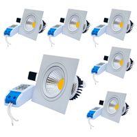 Wholesale Ceiling Light Glare - Jiawen 6pcs lot 3W 5W 7W Anti-glare Downlights Square Model COB LED Ceiling Light Warm Warm White (AC 85~265V)