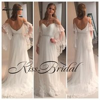 Wholesale White Reception Dress Lace - Real Photo 2017 Wedding Dresses Boho Summer Beach Lace Bridal Gowns Illusion Spaghetti Straps Tulle Formal Wedding Reception Gowns