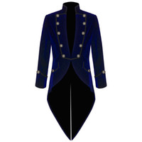 Wholesale Tuxedo Coats Tails - Velvet Bule Swallow Tailed Coat Custom Made Fashion Men Suits Formal Party Prom Blazer Latest Coat Pant 2017 Hot SaleJacket+Pant