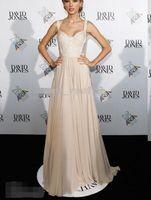 elie saab kleider plus größe großhandel-Berühmte Designer Spaghetti Strap Taylor Swift elie Saab Abendkleid roten Teppich Abend Party Kleider Günstige Verkauf