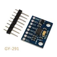 eksen modülü toptan satış-GY-291 ADXL345 3-Axis Dijital Yerçekimi Sensörü İvme Modülü Eğim Sensörü Arduino Için