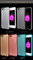 Wholesale angle iphone for sale - Group buy Four Angle Air Float Protective Case Shockproof Transparent Cell Phone Case Cover For iphone plus iphone plus