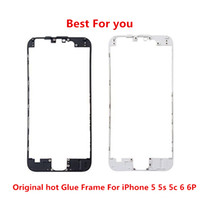 Wholesale iphone middle frame bezel hot glue for sale - Front Frame Middle Bezel LCD Supporting Frame With hot glue For iphone G S C P S sP Best Quality For you with DHL Fast