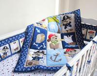 кроватки юбки бамперы оптовых-7 шт. Детские постельные принадлежности комплект мальчик детская кроватка постельные принадлежности мультфильм животных детская кроватка комплект одеяло бампер лист юбка