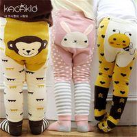 Wholesale penguin kids clothes resale online - Brand Clothes Cartoon Stripe Baby Leggings Elastic Cotton Soft Girls PP pants fox Penguin Lion Kids Tights