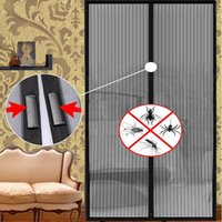 Wholesale- Hot 2.1 * 1m Hand Free Mosquito Net Porta Magnetic Anti Mosquito Cortinas Mosquito Screen Fly Insect Stop Red New