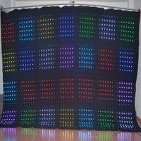 ingrosso volo ha portato-P6 3M * 4M DJ Vision Cortina LED Video Cloth Stage Lighting LED Video Cortina LED Video Screen Control PC con Flight Case