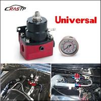 Wholesale Rs Regulator - RASTP-Universal Adjustable Injected Bypass Fuel Pressure Regulator Fitting AN10 (W 160psi Gauge No W) With Gauge For HONDA RS-FRG009