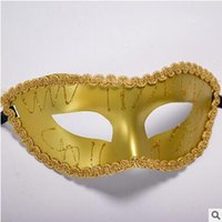 Wholesale Noble Women Costumes - For Sale Paintwork Dame Masks For Ladys Women Elegant Noble Masquerade Mask Graduating Party Masks Costume Party Princess Masks 9 Color