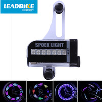 LEADBIKE Super Magic Cool 14 LED Motocicleta Ciclismo Bike Wheel Light Signal Pneu Spoke Light 30 Mudanças Acessórios para bicicletas