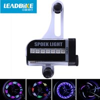 Wholesale Cool Bike Lights - LEADBIKE Super Magic Cool 14 LED Motorcycle Cycling Bike Wheel Light Signal Tire Spoke Light 30 Changes Bicycle Accessories