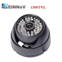 Wholesale Day Night Security Color Cctv - Black Wide angle outdoor 1300TVL CCTV security camera 48leds color day vision Color Day B&W Night