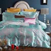 Wholesale Duvet Cover More - Elegant Silk Luxury Cotton Jacquard Comforters Duvet Cover Sets European-Style Bedding Four-Piece Cotton Bedding Sets Quilts